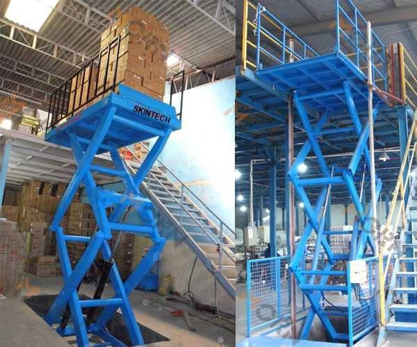 Manutenção preventiva plataforma elevatoria